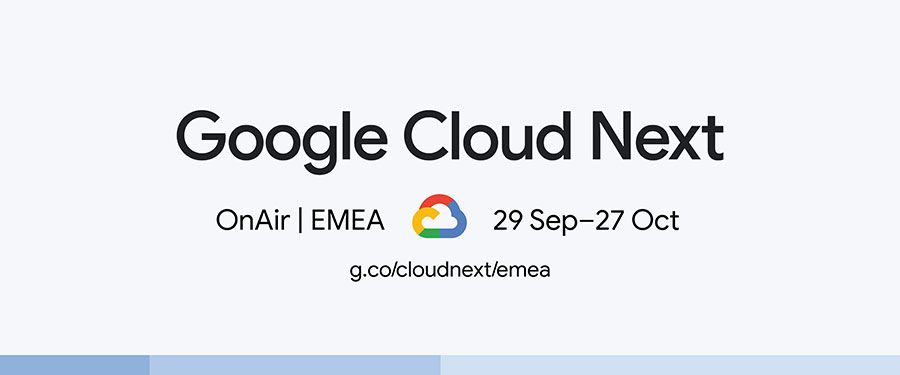 Google Cloud Next OnAir for Europe, starting September 29