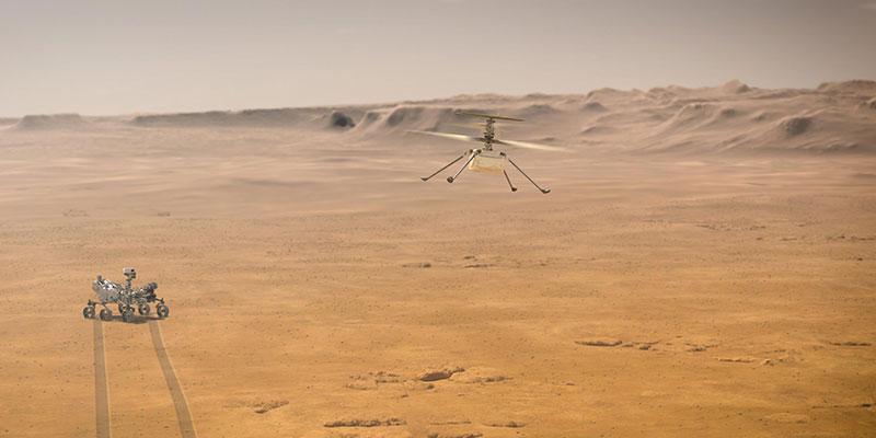 El Ingenuity vuela en Marte gracias al open source