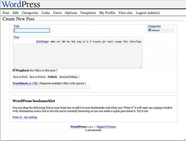 WordPress 1.0, 2004